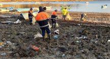 Baraj havzalarında 40 ton atık çıktı