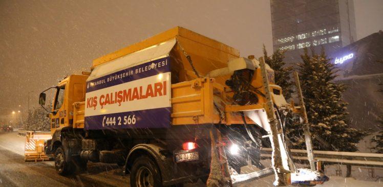 Kar geliyor,İBB hazır