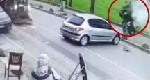 Beykoz'da motosiklet kazası!