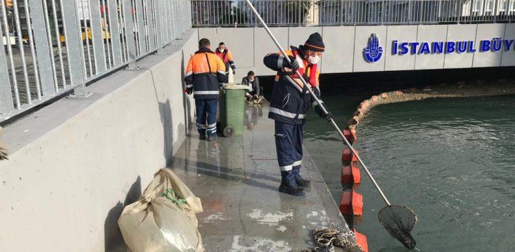 İBB, Kurbağalıdere'deki kirliliği temizledi