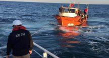 Beykoz açıklarında arızalanan teknede 4 kişi kurtarıldı
