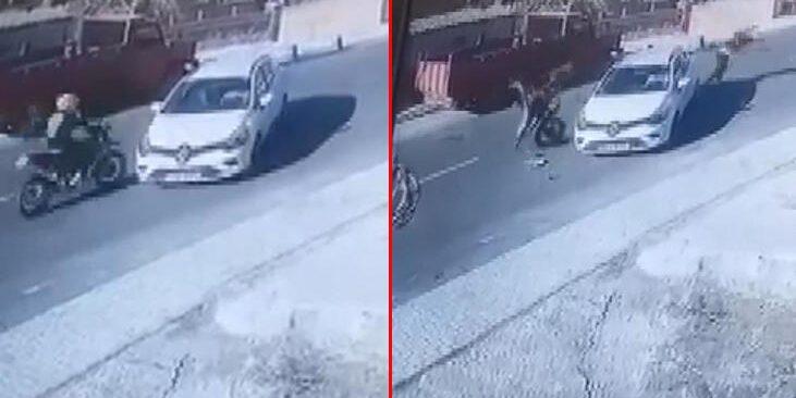 Beykoz'da feci motosiklet kazası!