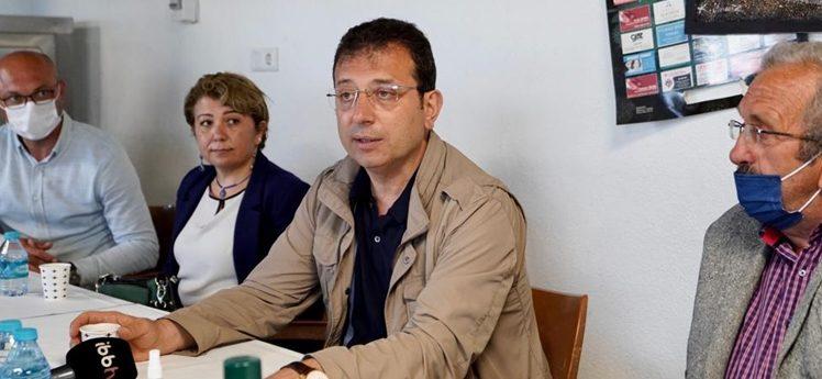 """İmamoğlu, Karaburun'dan """"Beton Kanal'a tepki gösterdi"""""""