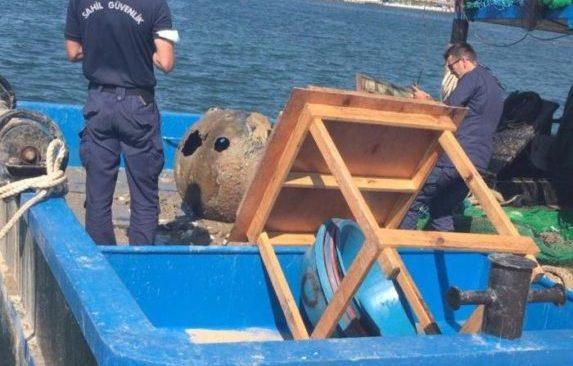 Beykoz'da tehlikeli av! Balıkçıların ağından mayın çıktı